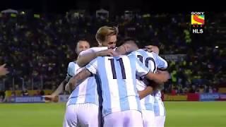 Ecuador v Argentina(1-3)   Full Match Highlights  English Commentry