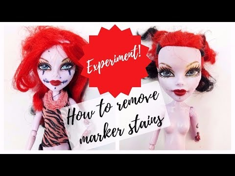 How To Remove Permanent Marker from Doll Face - Testing Lifehacks from Internet / Experiment