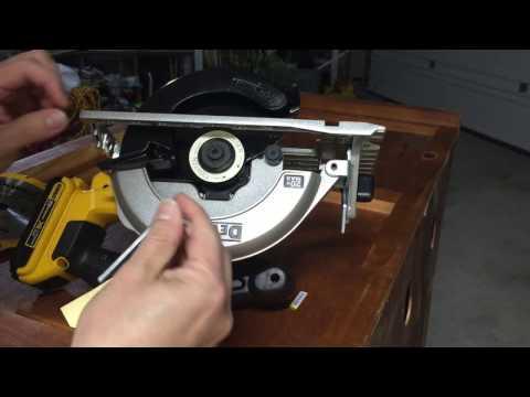 How to install 6.5 Blade on Dewalt 20v