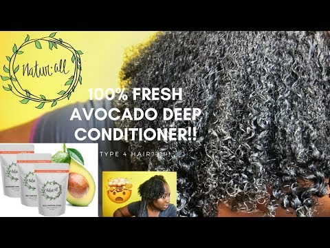 100% Fresh Avocado Deep Conditioner on TYPE 4 HAIR!! ft NaturAll Club+GIVEAWAY!