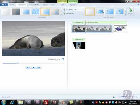 Windows Movie Maker - Part 2 - Transitions and Effects