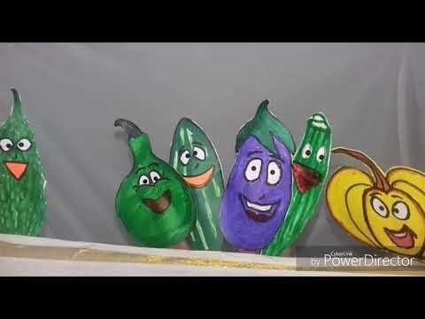 Vegetable finger puppet show by Surya sri.
