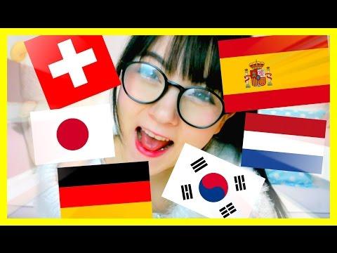 TALKING IN 7 LANGUAGES! German, Japanese, Spanish, Korean, Dutch & Swiss German