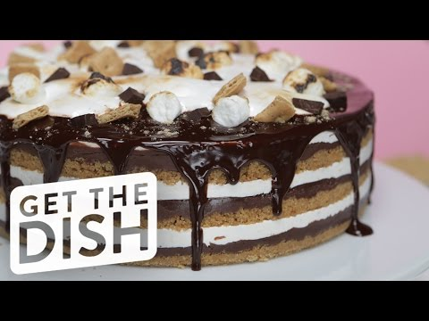 How to Make This Easy No-Bake S'mores Cake | Get the Dish