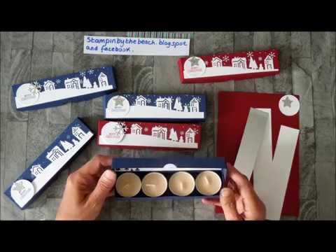 Tea light Christmas gift box tutorial