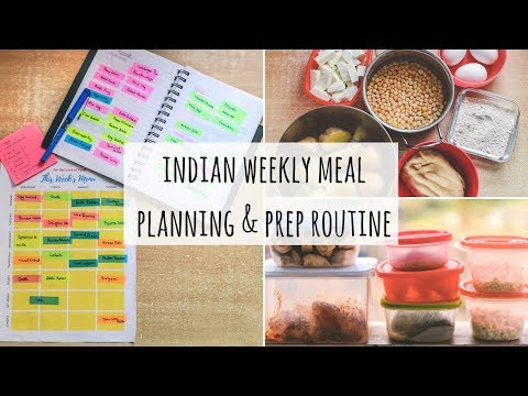 My Indian Weekly Meal Planning and Prep Routine | Weekly Indian Meal Planning and Prep | Saloni