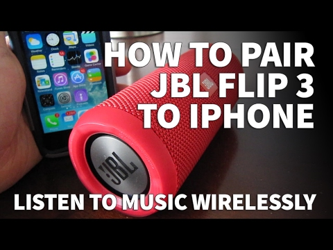 How to Pair iPhone to JBL Flip 3 – Wireless Bluetooth Speaker for iPad