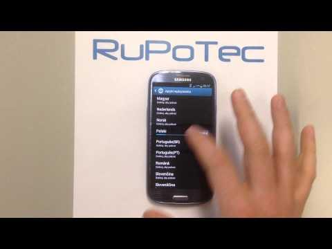 Samsung Galaxy S3 różne język na klawiatura