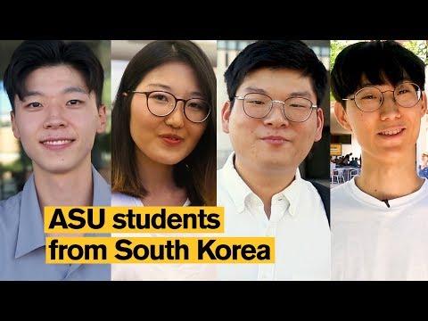 Arizona State University (ASU) students from South Korea