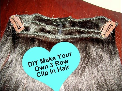 DIY Make Your Own 3 Layer Row Clip In Extensions New York Version