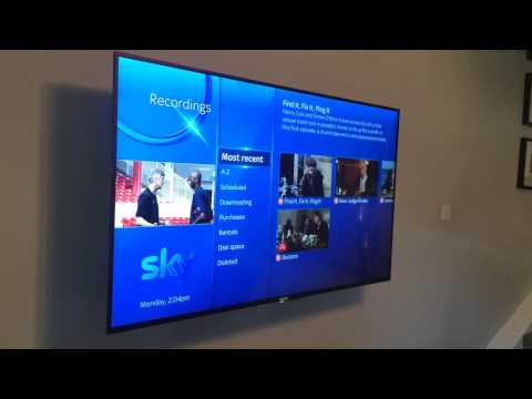 Sky Q box installed in the bedroom above. Full control via Bluetooth on the Sky Q handset