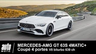 MERCEDES-AMG GT 63S Coupé 4 p 639 ch V8 biturbo ESSAI POV au MAROC Auto-Moto.com