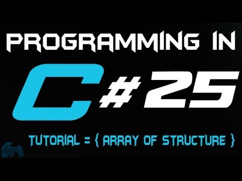 Programming in C Tutorial 25: Array of Structure [HD]