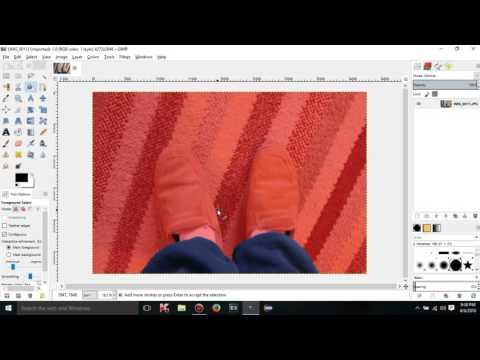 GIMP 2.8.16 tutorials - 15 - Foreground select tool