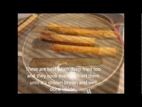 How to make  Lumpia Shanghai - Filipino Spring rolls. How To Make Philipine Egg Rolls