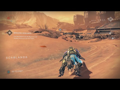 Destiny How to get to the Scablands from the Barrens on Mars