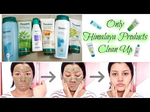 Only HIMALAYA PRODUCTS Clean Up at Home || Get Clear Glowing Skin || Riya Beauty