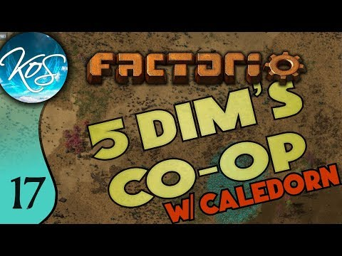 Factorio 5Dim's Co-op Ep 17: INTERMITTENT COMMUNICATION PROBLEMS - MP with Caledorn, Let's Play
