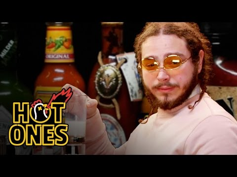 Xxx Mp4 Post Malone Sauces On Everyone While Eating Spicy Wings Hot Ones 3gp Sex