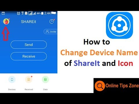 How to Change Name in ShareIt
