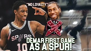 DeMar DeRozan 1st GAME AS A SPUR! Throws CRAZY OFF THE BACKBOARD SELF-OOP In DREW LEAGUE!!