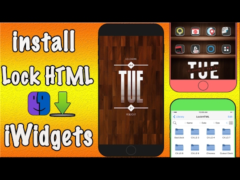 How To Install Lock Screen iwidgets in Filza File Manager & iFile From Dropbox & MediaFire