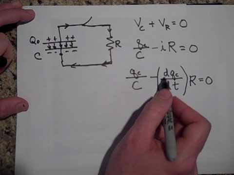 Discharging a Capacitor (RC Circuits)
