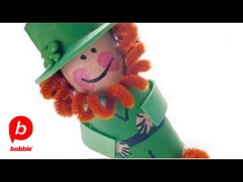 How to Make a St. Patrick's Day Cardboard Leprechaun | Crafts | Babble