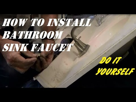 HOW TO INSTALL VANITY FAUCET DIY