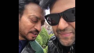 Guru Randhawa with Irfan Khan at the shoot of Suit song #exclusive