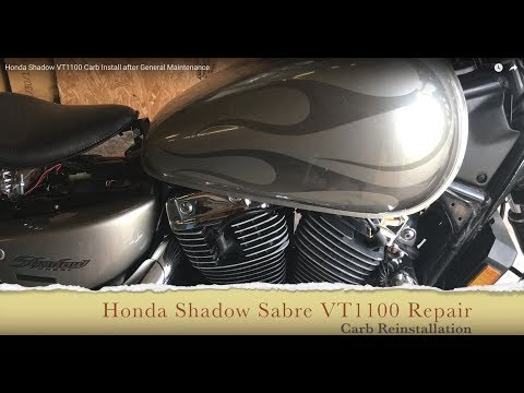 Honda Shadow VT1100 Carb Install after General Maintenance