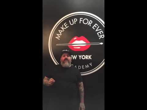 James Vincent at MAKE UP FOR EVER Academy in NYC