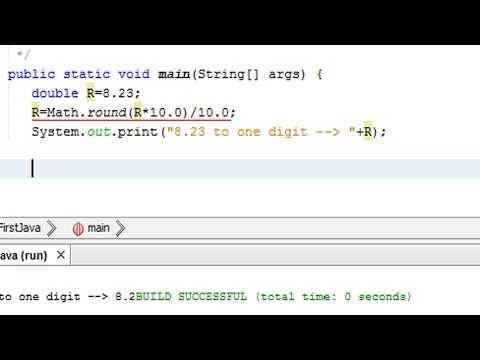 How to round a double number to one decimal digits in Java? - rounding in java