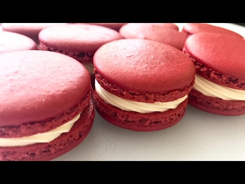 Red Velvet Macarons | HOW TO MAKE FRENCH MACARONS