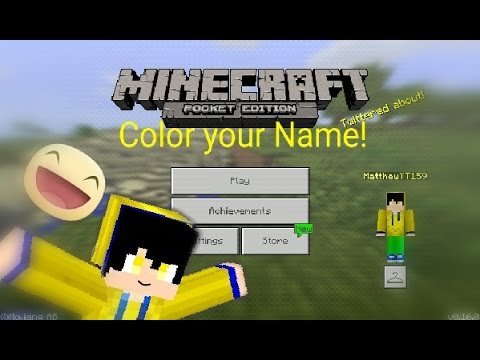 Minecraft PE 0.16.0 || Color your name! A new secret! 😁
