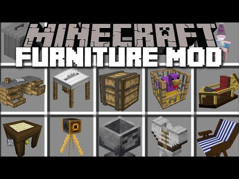 Minecraft OUTSIDE FURNITURE MOD / PLACE YOUR OWN FURNITURE AND WATCH IT MOVE!! Minecraft