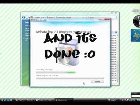 Uninstall New Windows Live Messenger 8.5 or 2009