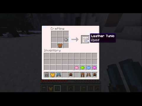 Minecraft how to dye leather armor 12w34a and above