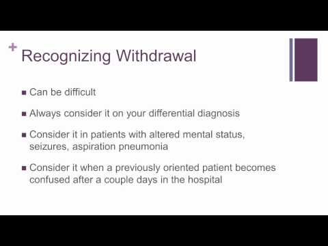 Alcohol Withdrawal in the Intensive Care Unit