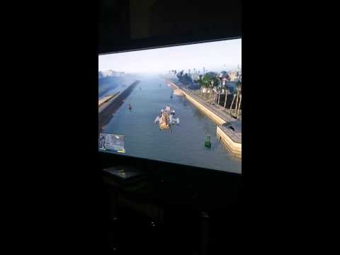 Gta 5 how to use a cargobob as a boat.