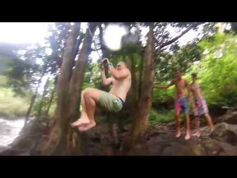 GoPro HD Gardener Falls QLD Waterfall Cliff Jumping