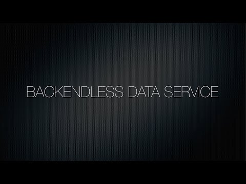 Video 5. Backendless Data Service