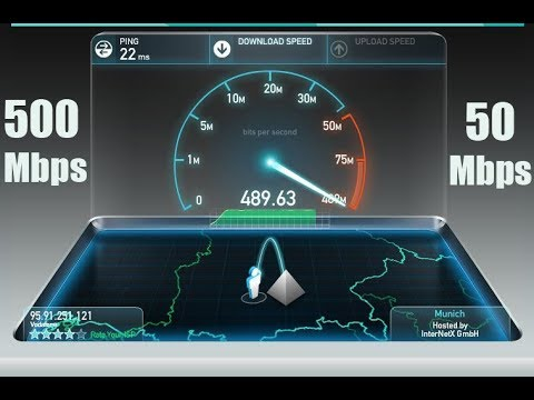 ✅Germany Internet Speed Test - Vodafone Kabel Deutschland 500 Mbps/50 Mbps