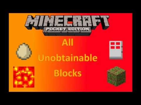 Minecraft PE All Unobtainable Blocks and Items + Download Link