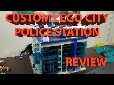 HUGE Custom Lego City Police Station