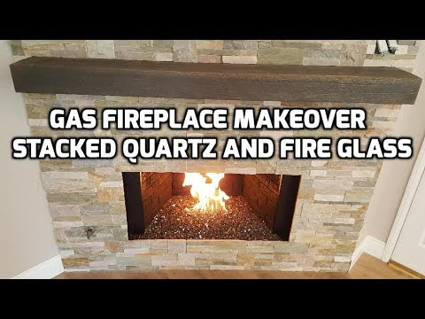 Fireplace Makeover Quartz Wall Stone Installation