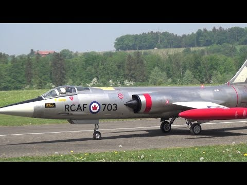Incredible 3x different STARFIGHTER F-104 RC Turbine XXL Model Jet's fly together