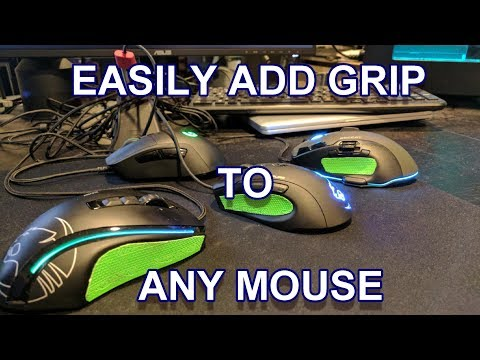 Easily add grip to any gaming mouse