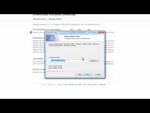Install R and RStudio on Windows 7 (OpenIntro)
