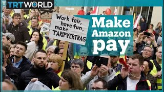 Protests against Amazon CEO Jeff Bezos in Germany
